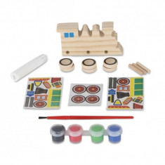Coloreaza-ti locomotiva din lemn Melissa and Doug, Melissa & Doug