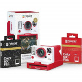 Aparat Foto Compact Instant Polaroid OneStep 2 Holiday Everything Box, baterie 1100mAh, Blitz integrat (Rosu)