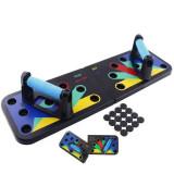 Placa pentru flotari multifunctionala pe baza de culori,cu manere Push Up Board, Oem