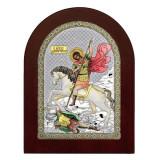 Cumpara ieftin Sfantul Dumitru 15x21cm Icoana Argint Color COD: 2914