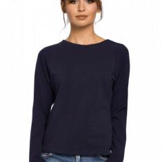 Bluza casual cu maneca lunga, bleumarin, 2XL, L, M, S, XL