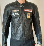 Geaca moto FLM Polo greyhound racing,piele, marime 54 (M/L), Pantaloni