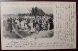 Carte poștală 1902 din Zanzibar la București. Stampile goarnă