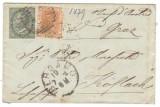 Italy 1879 Postal History Rare Cover Bergamo to Koflach D.139