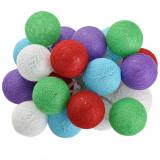Ghirlanda Craciun - cu globuri colorate - 20 LED