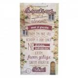 Cumpara ieftin Tablou decorativ Regulile Casei, design vintage, mdf