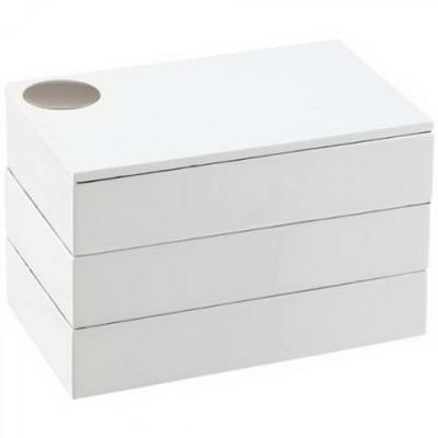 Caseta bijuterii spindle white-282437 foto