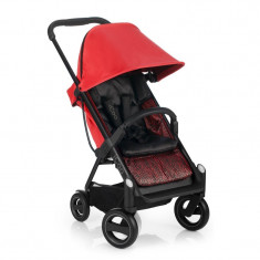 Set carucior Icoo Acrobat Shop Drive Fishbone Red, maxim 15 kg
