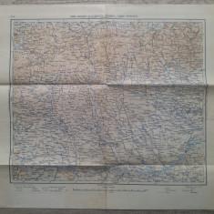 Sibiu, Brasov, Bucuresti, Craiova, Vidin, Rusciuk// harta militara 1939