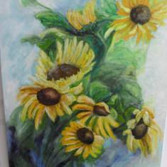 Floarea soarelui 2-pictura ulei pe panza