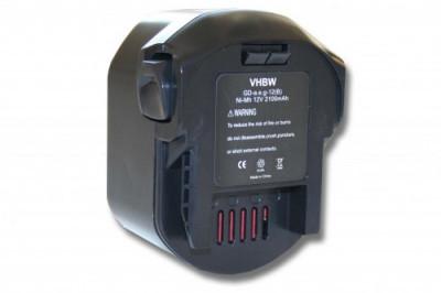 Acumulator pentru aeg bs12g u.a. 12v, ni-mh, 2100mah, B1215R, B1220R foto