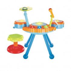 Cumpara ieftin Set tobe cu microfon si scaunel pentru copii fete baieti orga lumini