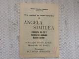 Pliant spectacol concert angela similea savoy marian nistor timisoara 1989 RSR