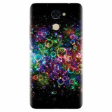 Husa silicon pentru Huawei Enjoy 7 Plus, Rainbow Colored Soap Bubbles