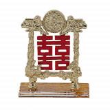 Simbolul Dublei Fericiri din metal cu Rate Mandarine dubla fericire
