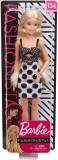 Papusa Barbie - Fashionista cu rochita alb negru