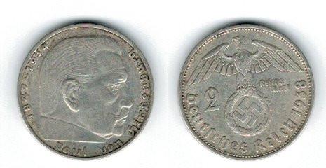 Germania 1938 - 2 Mark A, Ag