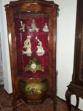 Vitrina/mobila antica/vintage, Ludovic/baroc, lemn ,inatrise,pictata manual, Sufragerii si mobilier salon, Louis XIII,XIV, XV, XVI, 1900 - 1949