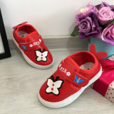 Espadrile rosii cu fluturas adidasi f moi pt fetite / bebelusi 20