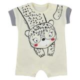 Salopeta cu maneca scurta pentru bebelusi Sara Koala 07-818GA, Multicolor