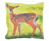 Perna decorativa Deer 41.5x41.5 cm - Esschert Design, Portocaliu,Verde