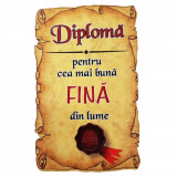 Magnet Diploma pentru cea mai buna FINA din lume, lemn, Alexer