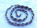 COLIER argint din SNURURI GROASE argint IMPLETITE manopera EXCEPTIONALA masiv