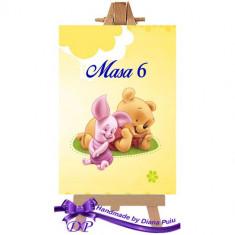 Numere masa pentru botez Winnie the Pooh Handmade by Diana Puiu NMBW 1