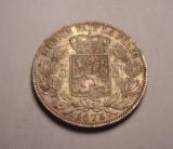 Belgia 5 Franci 1873  Detalii Deosebite Piesa de Colectie