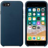 Husa de protectie Apple pentru iPhone 8 / iPhone 7, Piele, Cosmos Blue