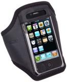 Banderola reglabila neagra pentru telefoane Apple iPhone 4/4S, iPhone 3G/3GS, Samsung S5830, S5570, HTC One V, Nokia Lumia 800, Motorola Defy + / Def