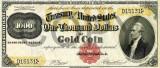 1000 dolari 1882 Reproducere Bancnota USD  ,   Dimensiune reala 1:1
