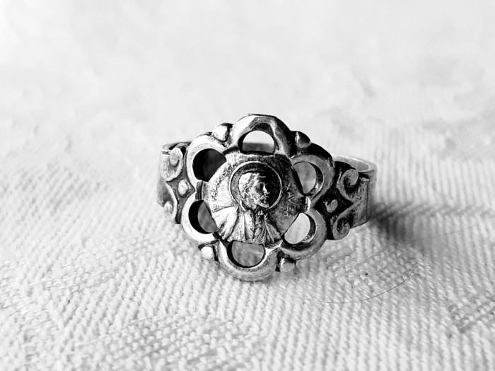 INEL argint SFANTUL FRANCISC XAVIER de colectie RAR splendid VECHI exceptional