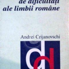 Dictionar de dificultati ale limbii romane