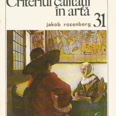 Criteriul calitatii in arta (31) - Jakob Rosenberg