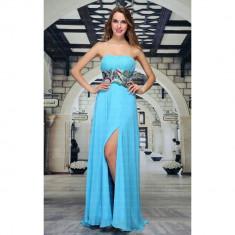 Rochie lunga eleganta, de culoare turcoaz, XS