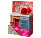 Cumpara ieftin Set Barbie, mobilier exterior cuptor pizza