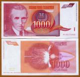 = IUGOSLAVIA - 1000 DINARA – 1992 – UNC   =