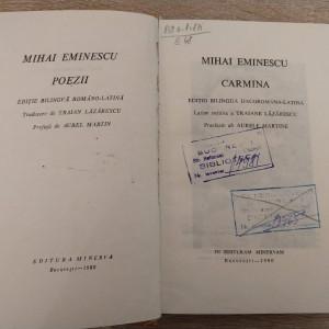 Mihai Eminescu - Poezii - editie bilingva (romana - latina)