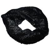 Cumpara ieftin Fular Ioda circular cu insertii de paiete,nuanta de negru