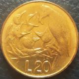 Moneda 20 LIRE - SAN MARINO, anul 1975 *cod 4256 = UNC, Europa