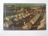 Rara! Carte postala circulata 1926:Techirghiol-Eforia,tabara de vara