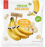 Cumpara ieftin Gustare crocanta popcorn din porumb, orez si banane bio 20g
