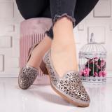 Pantofi dama cu toc mic gri Paniolia
