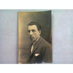 FOTOGRAFIE TIP CARTE POSTALA, BUST BARBAT, 1921