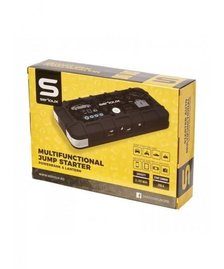 Starter auto multifunctional serioux incarcator notebook/tableta/telefon functie lanterna capacitate baterie: