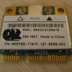 Placa wireless laptop Dell Latitude E6510, DW 1501, 0K5Y6D, BCM94313HMG2L