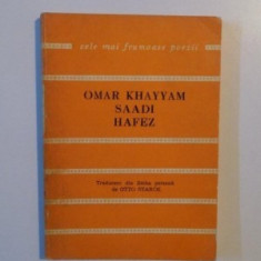 Omar Khayyam Saadi Hafez Catrene persane