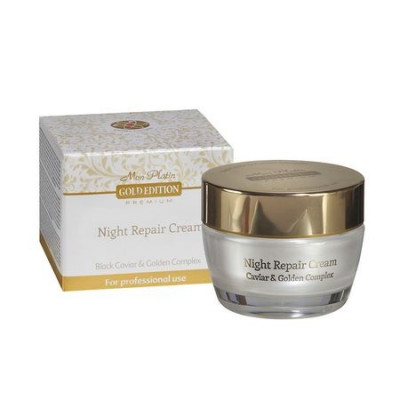 Crema de noapte pentru fata cu aur, DSM-Mon Platin Gold Edition, 50 ml foto