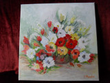 Flori 3-pictura ulei pe panza, Altul